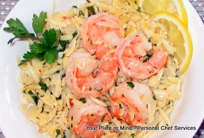 Garlic Lemon Shrimp & Orzo